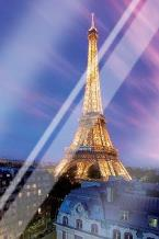 Eiffel Tower At Dusk art print poster with laminate