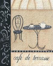 Cafe De Terrasse art print poster transferred to canvas
