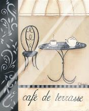 Cafe De Terrasse art print poster with laminate