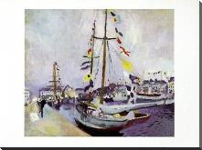 Le Yacht Pavoise Au Havre art print poster with block mounting