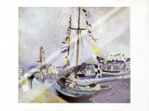 Le Yacht Pavoise Au Havre art print poster with laminate