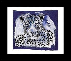 Young Leopard art print poster with simple frame