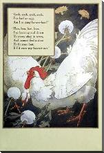 Hen, Hen, Hen art print poster with block mounting