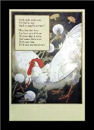 Hen, Hen, Hen art print poster with simple frame
