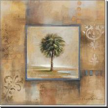 Sunlit Palmetto I 12X12 art print poster with block mounting