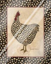 Spotted Chicken art print poster with laminate