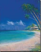 Bahama Cove art print poster with block mounting