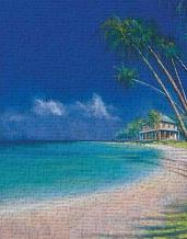 Bahama Cove art print poster transferred to canvas