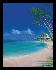 Bahama Cove art print poster with simple frame