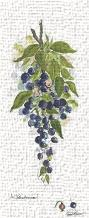 Blueberries art print poster transferred to canvas