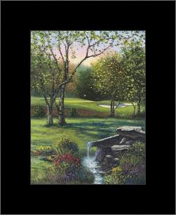 Rambling Brook At #17 art print poster with simple frame