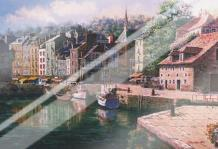 Village Of Honfleur art print poster with laminate
