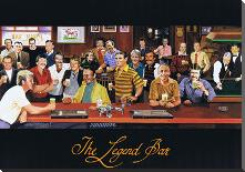 Legend Bar art print poster with block mounting