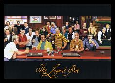 Legend Bar art print poster with simple frame