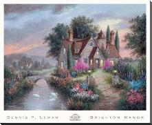 Brighton Manor art print poster with block mounting