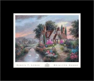 Brighton Manor art print poster with simple frame