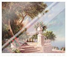 Balcony At Lake Como art print poster with laminate