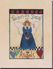 Apple Angel art print poster with block mounting