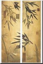 Bamboo Impressions II art print poster with block mounting