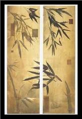Bamboo Impressions II art print poster with simple frame