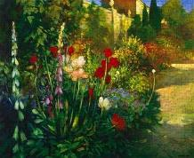 Walled Garden art print poster transferred to canvas