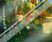 Walled Garden art print poster with laminate