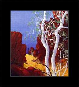 Red Centre art print poster with simple frame