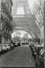 Street View Of La Tour Eiffel art print poster with block mounting