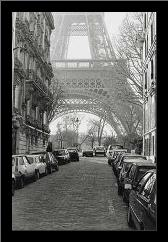 Street View Of La Tour Eiffel art print poster with simple frame