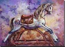 Rocking Horse III art print poster with block mounting
