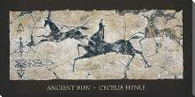 Ancient Run art print poster with block mounting
