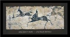 Ancient Run art print poster with simple frame