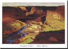 Canyon River art print poster with block mounting
