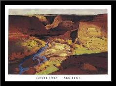 Canyon River art print poster with simple frame