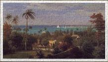 Bahamas Harbour 1882 art print poster transferred to canvas