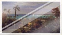 Bahamas Harbour 1882 art print poster with laminate