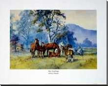 The Yearlings art print poster with block mounting