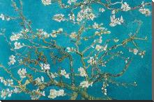 Almond Blossom art print poster with block mounting