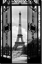 La Tour Eiffel art print poster with block mounting