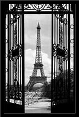 La Tour Eiffel art print poster with simple frame