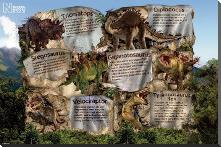 Dinosaurs - Facts - Natural History Museum art print poster with block mounting