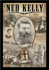 Ned Kelly - Collage art print poster with simple frame