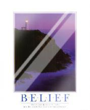 Belief art print poster with laminate