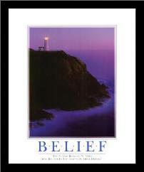 Belief art print poster with simple frame