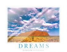 Dreams art print poster with laminate