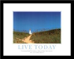 Live Today art print poster with simple frame