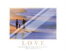 Love art print poster with laminate