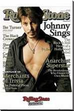 Johnny Depp -Rolling Stone Cover 2 art print poster with block mounting