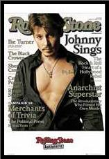 Johnny Depp -Rolling Stone Cover 2 art print poster with simple frame