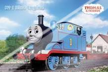 Thomas and Friends Blue Engine art print poster with laminate